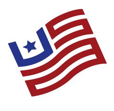 American flag made up of the letters U.S.A. #flag #usa #america #monogram