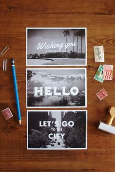 Anderson-esq Travel Postcards – Set of 6 #post #print #design #cards