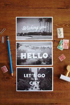 Travel Postcards – Set of 6 #print #post cards #design