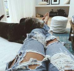 Likes | Tumblr #damaged #jeans