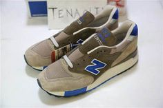 Mens new balance x J.Crew M998JS1 Pebble Blue Grey Shoes