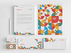 Colorful Circle Pattern Stationery You can download it here: http://graphicriver.net/item/colorful-circle-pattern-stationery/8056316?ref=ab #pattern #modern #colorful #minimal #stationery #template #download #graphicriver