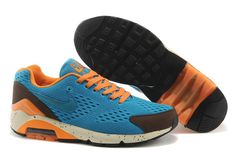 Blue Nike Air Max 180 Mens Em