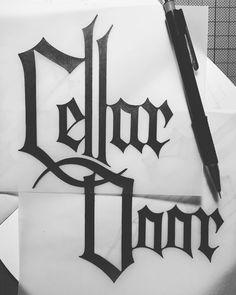 Lettering | 'CellarDoor' #lettering #typography #CellarDoor #type #design