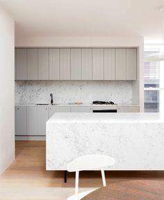 Tribe Studio Architects Created Double Bay House in Pastel Color Scheme - InteriorZine #kitchen #home #decor #interior