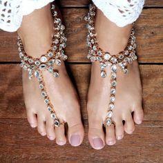 boho gypsy anklets