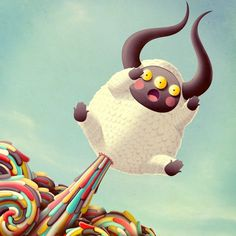 CACAFRUTTI! on the Behance Network #cacafrutti #design #illustration #colors #monster #poop #character