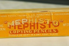 Expresh Letters Blog: Mephisto drawing pencil package #packaging #typography