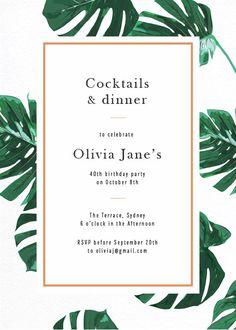 Tropical Tale - Birthday Invitations  #birthday #invitation #birthdayinvitation #paper #cards #digitalcard #design #print #digitalprint #pap