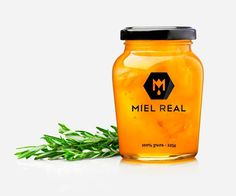 Miel Real #branding #packaging #identity #honey #logo #miel