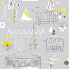 Swiss Cheese and Bullets — Festival wallpaper by Mini Moderns. #london #wallpaper