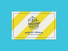 Spanish Armada Stationary by javi medialdea #logo #brand