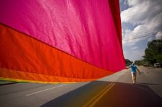 Visual Overload Party #flag #color #rights #photography #gay #parade #action