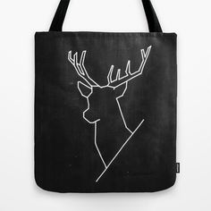 Geometric Deer - tote bag