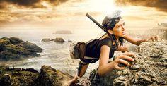 girl_on_adventure_4.jpg (1013×527) #ocean #an #dave #girl #hill #adventure #on #sea #climbing