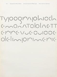 Typografische Monatsblätter. Die Fachzeitschrift für Typografie, Schrift und visuelle Kommunikation. | Cover from 1966 issue 3 | Cover Design André