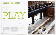 Paula Scher on the High Line | New at Pentagram | Pentagram #spread #brochure #typography