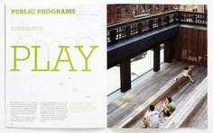 Paula Scher on the High Line | New at Pentagram | Pentagram #spread #brochure #typography