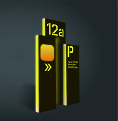 Wayfinding | Signage | Sign | Design 酒店发光标识牌