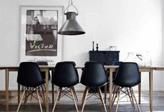 Less variety #matte #homes #black #chairs