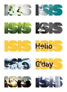 ISIS on the Behance Network #logo #photos #background #clipped