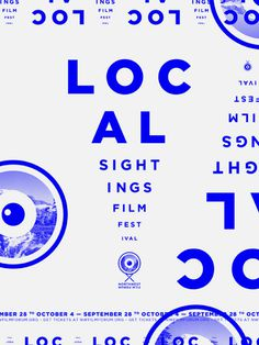 Local Sightings Film Festival on Behance #poster #film