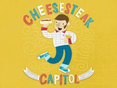 Dribbble - [Gif] Ten Paces & Draw - Philly Swap by Greg Christman #christman #illustration #greg #cheesesteak