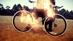 Viva 'Fire' Directed by Ash Bolland | Flickr - Photo Sharing! #flames #bicycle #girl #bolland #fire #vide #bike #music #ash