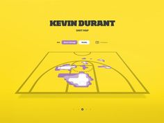 Dribbble - Shotmap by Josh Rhode #infographic #yellow #nba #basketball