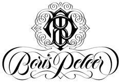 Boris Pelcer :: Boris Pelcer Logo #boris #lettering #script #borispelcer #monogram #logo #pelcer #typography