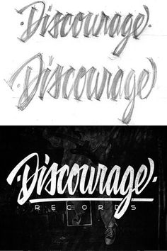 Discourage by Damian King #logo #design #inspiration #creative #hand lettered #illustration #personalized