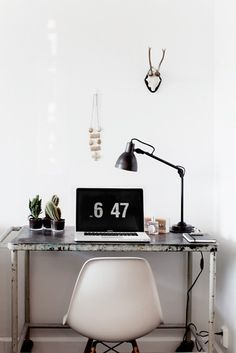Apartment with Industrial Touch #inspiration #office #workspace