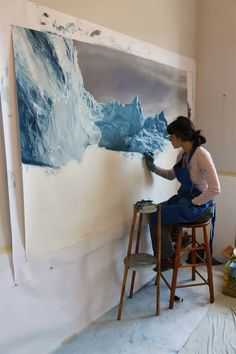 Pastel Icebergs by Zaria Forma1 #painting #sea #art