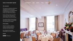 Roux at Parliament Square - Web design inspiration from siteInspire