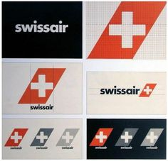 Behind the SwissAir Logo #swiss #airlines #swissair #identity