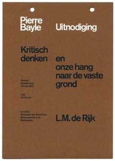 almost Modern : Pierre Bayle Stichting II #print #layout