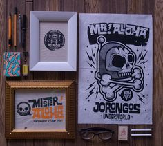 MR. ALOHA on Behance #packing #print #shirt #ilustracin #sticker #aloha