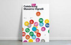 poster, vignelli