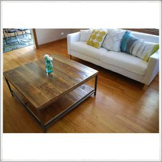 Reclaimed wood coffee table | custom woodwork | recycled furniture #coffee #table