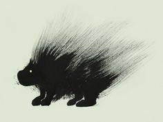 tumblr_lt41wfOqg01qa9yzdo1_1280.jpg 1,280×964 pixels #illustration #strokes #porcupine #brush