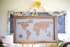 Custom Wooden Maps #tech #flow #gadget #gift #ideas #cool