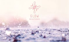 Glöw Beauteous #logo #rain #corporate design #water #purple #signet #skin #beauty #clinic #beauteous