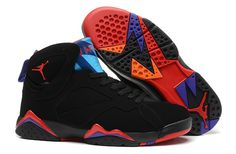 Nike Air Jordan Red Vii Mens Shoes Black Black Mago