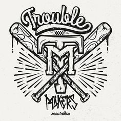 Trouble Makers #type #lettering #typography