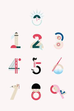 Travellers Numbers. #illustration #design #graphic #diseño #grafico #madrid #diseñografico #milogoesminombre #maria #graphicdesign #trave