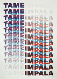 Tame Impala Gig Poster, Rainbow Posters #Tame #Impala