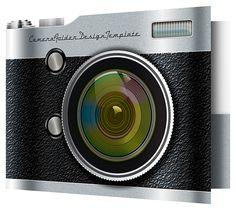 Camera Pocket Folder Design Template for Photographers [Free PSD]