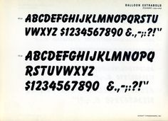 Balloon was designed for ATF in 1939 by Max R. Kaufmann. #type #specimen #typography