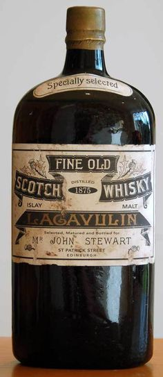 Lagavulin 1875 45KB #whiskey #scotch #victorian #bottle #vintage