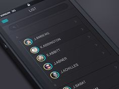 Flat_Mobile_UI #list #flat #mobile #ui